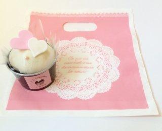 カップケーキ ピンク袋