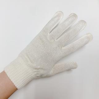 絹糸屋さんの『おそとで育った蚕の力。』野蚕生糸のシルク手袋 〜フィラメントシルク・生糸〜|きなり(アイボリー)