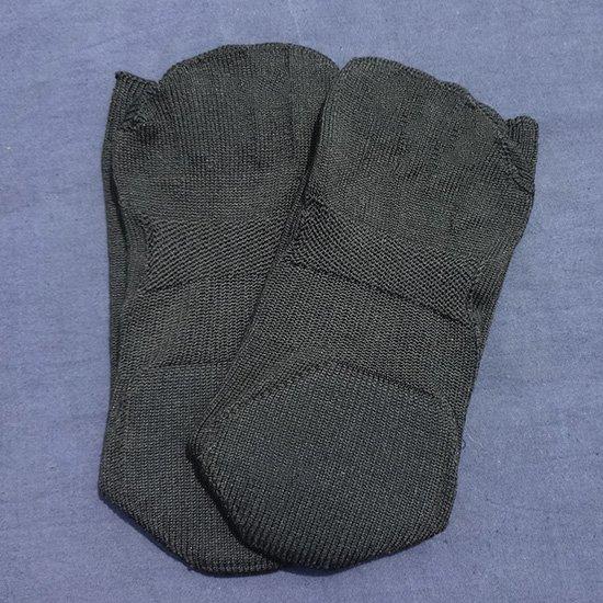 【送料無料】【季節のセール!】けんぼうシルク(絹紡糸)の隠れ五本指ソックス 紳士サイズ