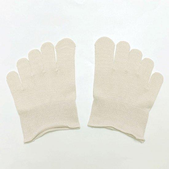 けんぼうシルク(絹紡糸)の指先カバー靴下