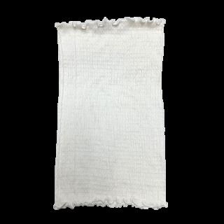 絹糸屋さんの『ふわふわの誘惑。』白雲シルク腹巻|丈35cm 〜極細番手けんぼうシルク・絹紡糸〜|きなり(アイボリー)