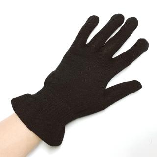絹糸屋さんの『朝がうれしい。』おやすみシルク手袋|〜けんぼうシルク・絹紡糸〜|ブラック