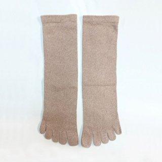 絹糸屋さんの『足指、いきいき。』シルクネップツイード五本指靴下 〜つむぎシルク・絹紬糸〜 エクリュ