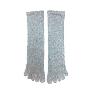 絹糸屋さんのシルクネップツイード五本指靴下 〜つむぎシルク(絹紬糸)〜| スノーグレ—