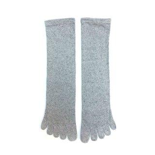 絹糸屋さんの『足指、いきいき。』シルクネップツイード五本指靴下|〜つむぎシルク・絹紬糸〜| スノーグレ—