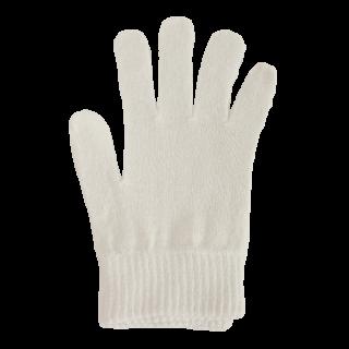 絹糸屋さんの『なんだか、ほっこり。』ふんわりシルク手袋 〜つむぎシルク・絹紬糸〜|きなり(アイボリー)