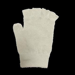 絹糸屋さんの『なんだか、ほっこり。』ふんわりシルク手袋|指あきタイプ 〜つむぎシルク・絹紬糸〜|きなり(アイボリー)