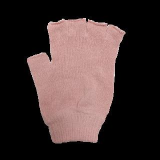 絹糸屋さんの『なんだか、ほっこり。』ふんわりシルク手袋|指あきタイプ 〜つむぎシルク・絹紬糸〜|ピンク