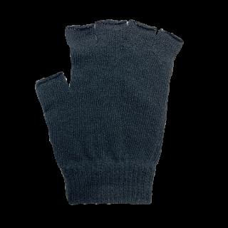 絹糸屋さんの『なんだか、ほっこり。』ふんわりシルク手袋|指あきタイプ 〜つむぎシルク・絹紬糸〜|ブラック