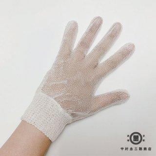 絹糸屋さんのセリシン手袋|未精練フィラメントシルク(特殊加工生糸)セリシンでおやすみ・ハンドケア 〜生糸〜