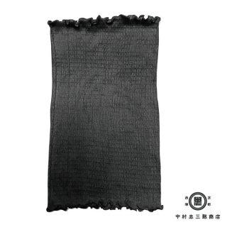 絹糸屋さんの『ふわふわの誘惑。』白雲シルク腹巻|丈35cm 〜極細番手けんぼうシルク・絹紡糸〜|ブラック