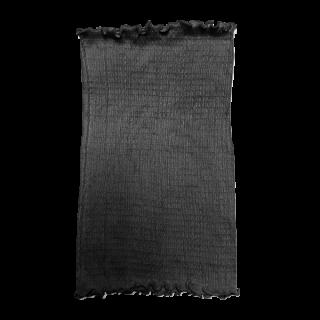 絹糸屋さんの『ふわふわの誘惑。』白雲シルク腹巻|シングル丈35cm|〜極細番手けんぼうシルク・絹紡糸〜|ブラック