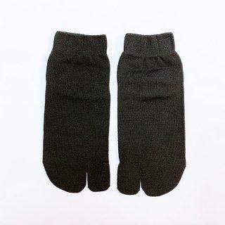 けんぼうシルク(絹紡糸)のしっとり気持ちいい足袋ソックス ブラック