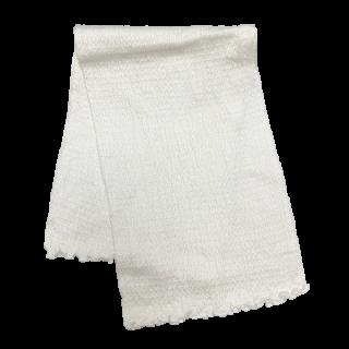 絹糸屋さんの『ふわふわの誘惑。』白雲シルク腹巻|ロング丈65cm 〜極細番手けんぼうシルク・絹紡糸〜|きなり(アイボリー)