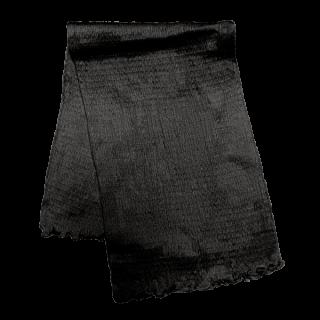 絹糸屋さんの『ふわふわの誘惑。』白雲シルク腹巻|ロング丈65cm 〜極細番手けんぼうシルク・絹紡糸〜|ブラック