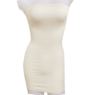 絹糸屋さんの『おっ、がっつり。』厚リブシルク腹巻|ロング丈65cm|〜けんぼうシルク・絹紡糸〜|きなり(アイボリー)