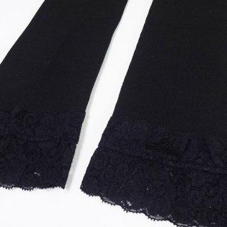 けんぼうシルク(絹紡糸)の七分丈レギンス M-Lサイズ