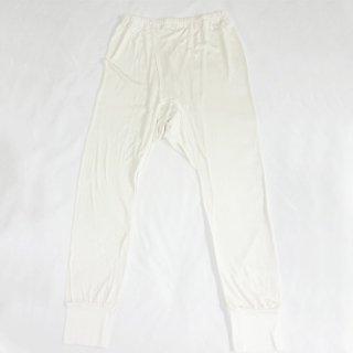 極細番手絹紡シルク(絹紡糸)の紳士ロング八分丈ズボン下