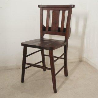 英国アンティーク調 チャーチチェア ボックス付 ダーク マホガニー教会 椅子