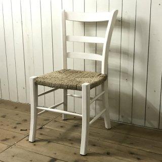 パンダン ダイニングチェア パンダン座面 マホガニー 木製椅子 カフェ リゾート シャビーホワイト