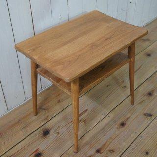 アンティーク調 木製 ベッドサイドテーブル チーク無垢 小 ナチュラル