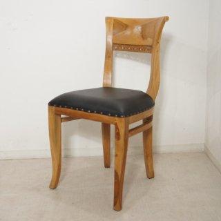 アンティーク調 キパスチェア ダイニングチェア 合皮座面 チーク 木製椅子 ダイニング カフェ ナチュラルチーク Type3