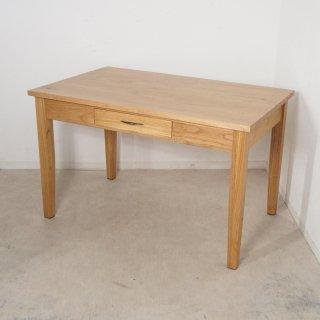 【送料無料】ミンディ無垢 引き出し2杯 木製 ダイニングテーブル ナチュラル