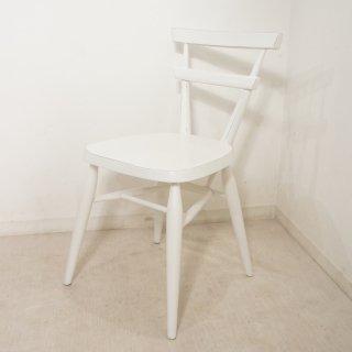 英国アンティーク調 スクールチェア 木製 椅子 マホガニー 無垢材 ホワイト