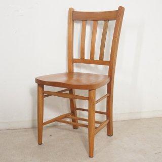 英国アンティーク調 チャーチチェア ボックスなし マホガニー教会 椅子