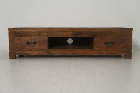チーク無垢材 古木 ローボード テレビボード 120cm テレビキャビネット