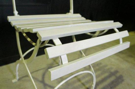 アンティーク調 ガーデン フォールディングチェア シャビー ホワイト