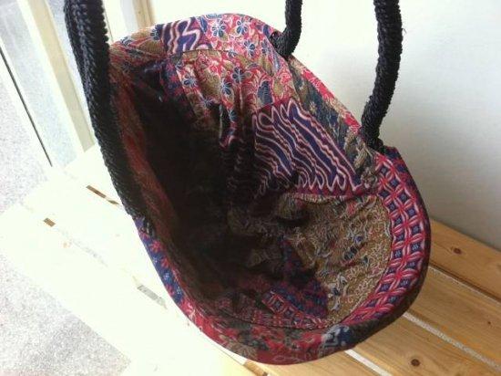 天然パンダン手編み  巾着トートバッグ #P201