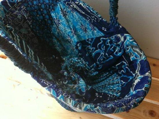 天然パンダン手編み  巾着トートバッグ #B207