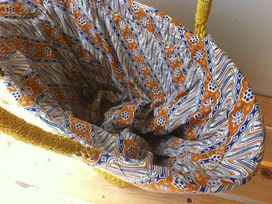 天然パンダン手編み  巾着トートバッグ #Y208