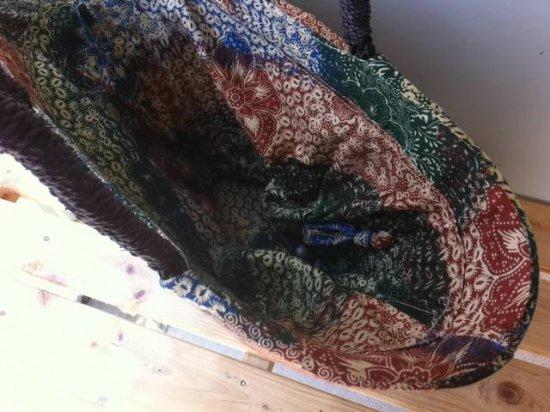 天然パンダン手編み  巾着トートバッグ #P210