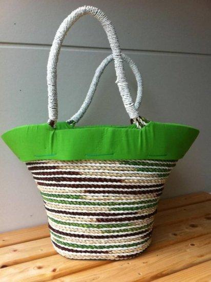 天然パンダン手編み  巾着トートバッグ #G211