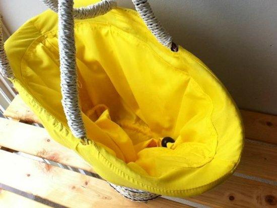 天然パンダン手編み  巾着トートバッグ #Y212