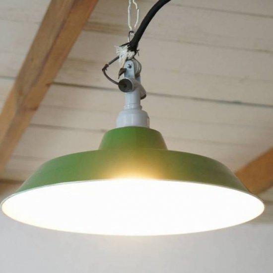 昭和レトロ ホーロータイプ ランプ 工業系 デットストック