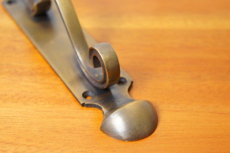 アンティーク調  ドアハンドル 2個セット ブラス製