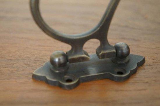アンティーク調 ウォール ハンガーフック 真鍮製 可変