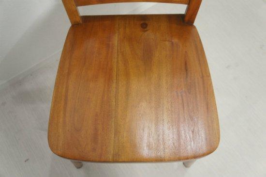 英国アンティーク調 チャーチチェア ボックス付 クロス マホガニー教会 椅子