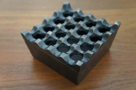 アンティーク調 エスニック 灰皿 アシュトレー アルミニウム ブラス色仕上げ