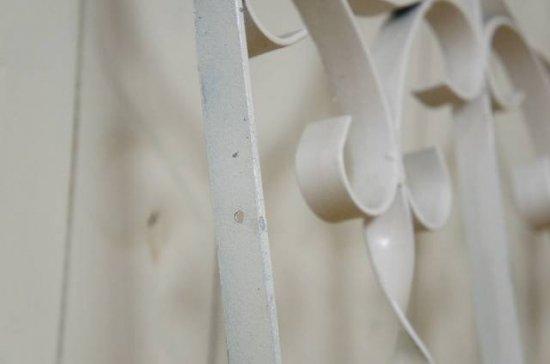 アンティーク調 アイアン フェンス 衝立 柵 ホワイト