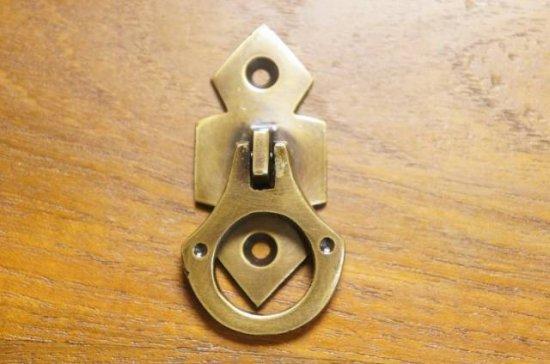 アンティーク調 ブラス 取っ手ハンドル 真鍮製 縦引っ張り