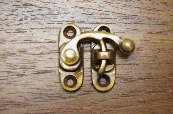 アンティーク調 デザイン ロック金具 引掛け 真鍮製 掛金