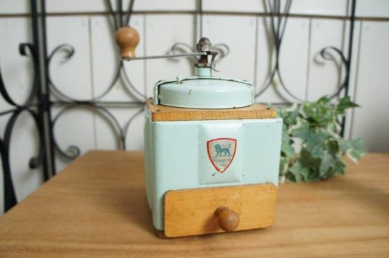 フランスアンティーク プジョー製コーヒーミル Peugeot ミントグリーン