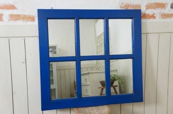 アンティーク調  窓枠 壁掛けミラー 6枚