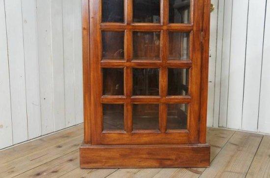 英国調 イギリス 電話ボックス型 大型シェルフ  棚 店舗什器 木目
