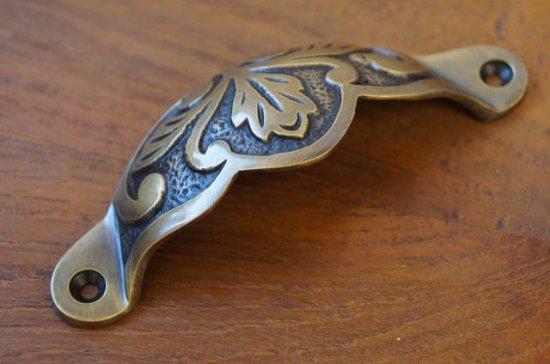 アンティーク調 ブラス 取っ手ハンドル 引き出し用 真鍮製
