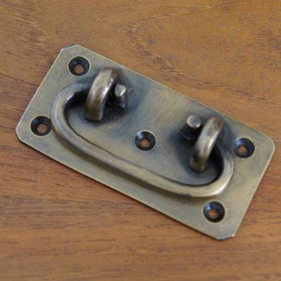 アンティーク調 ブラス 可変取っ手ハンドル 真鍮製 小